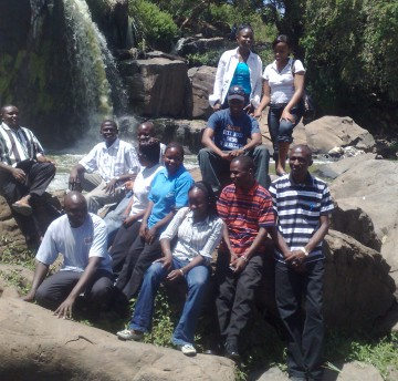 "Team Activity at ""14 falls"", Thika"